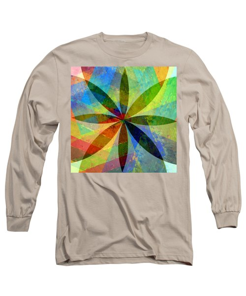 Long Sleeve T-Shirt featuring the painting Eight Petals by Michelle Calkins