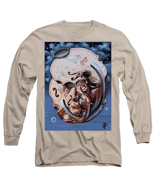 Einstein's Violin. Op.2763 Long Sleeve T-Shirt