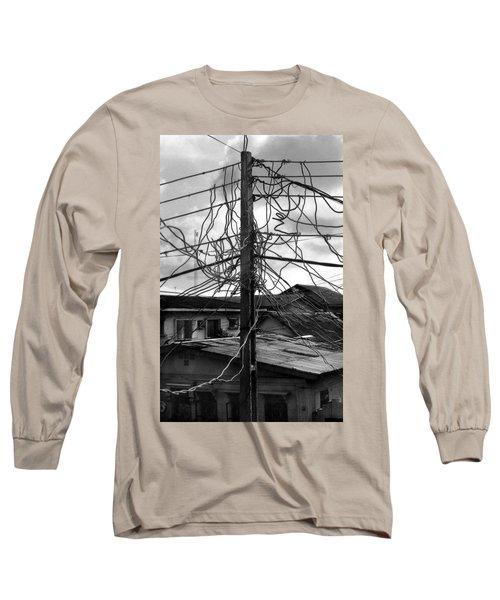 Up Nepa Electricity Pole Long Sleeve T-Shirt