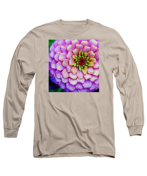 Electrifying Zinna Long Sleeve T-Shirt by Bruce Bley