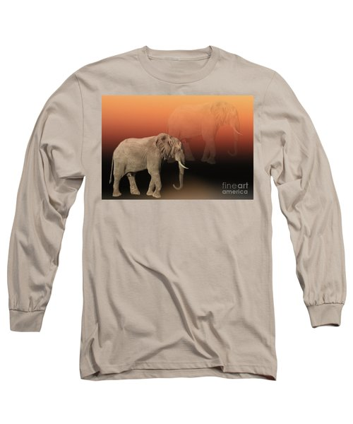 Long Sleeve T-Shirt featuring the photograph Elephant Dreams by Myrna Bradshaw