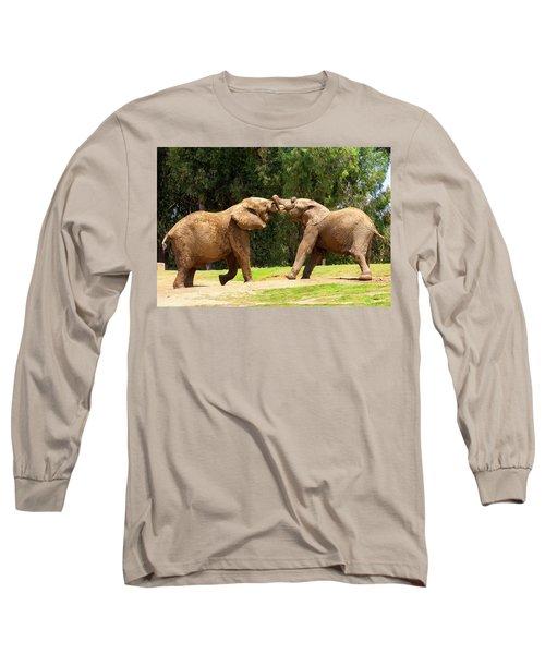 Elephants At Play 2 Long Sleeve T-Shirt