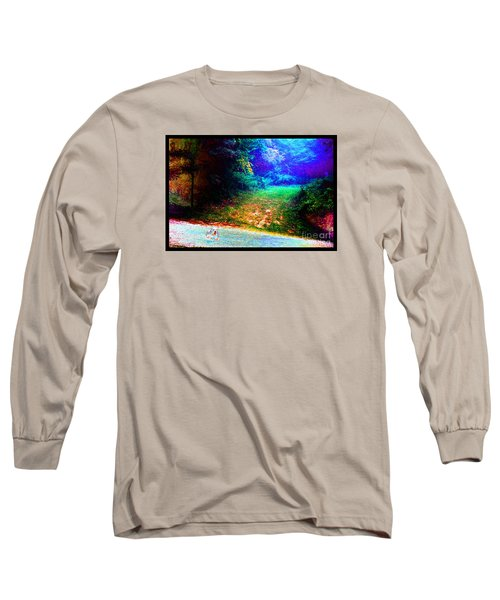 Eleven Dimensions East Long Sleeve T-Shirt by Susanne Still