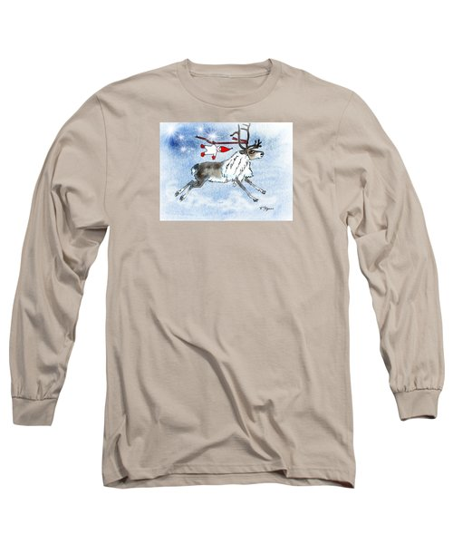 Elf And Reindeer Long Sleeve T-Shirt