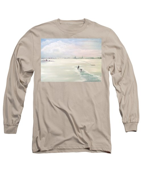 Long Sleeve T-Shirt featuring the painting Elf Stedentocht- Eleven Cities Tour by Annemeet Hasidi- van der Leij