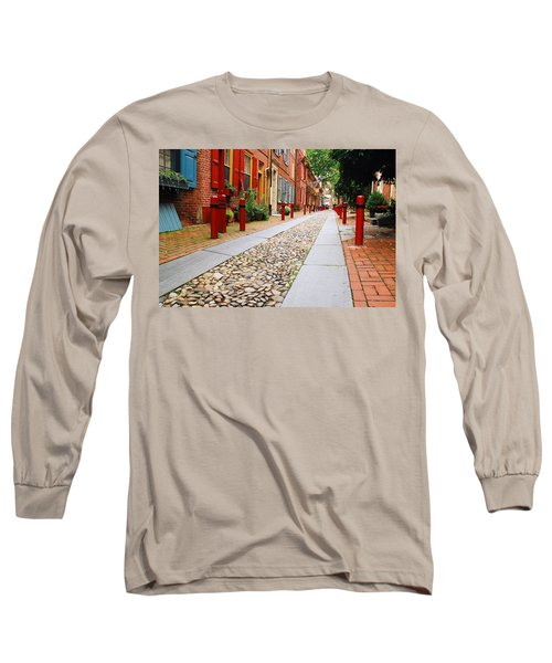 Elfreth Alley Long Sleeve T-Shirt by James Kirkikis