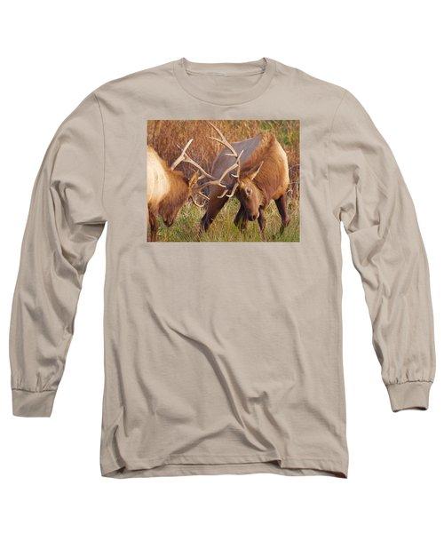 Elk Tussle Long Sleeve T-Shirt by Todd Kreuter