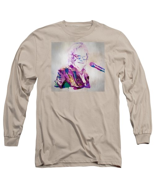 Elton John Long Sleeve T-Shirt by Dan Sproul