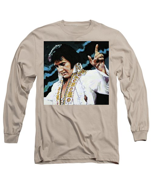 Elvis - How Great Thou Art Long Sleeve T-Shirt by John Lautermilch