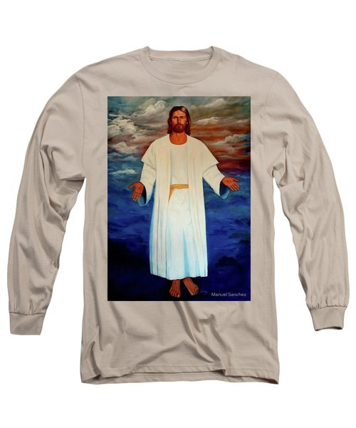 Emanuel Goes To His Father Long Sleeve T-Shirt by Manuel Sanchez