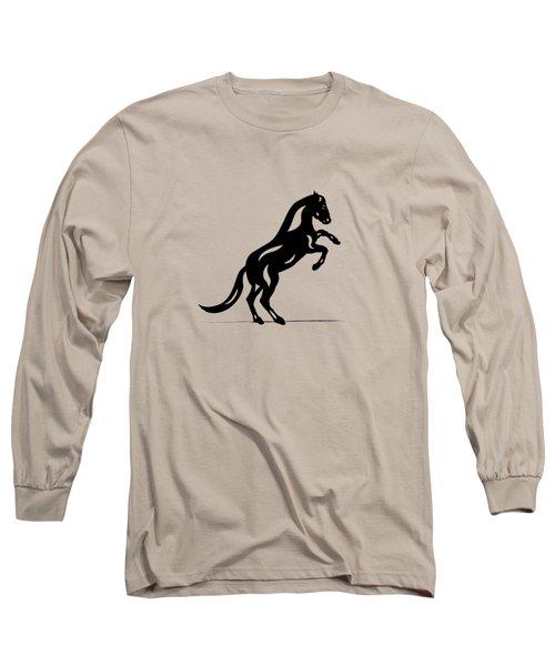 Emma II - Abstract Horse Long Sleeve T-Shirt