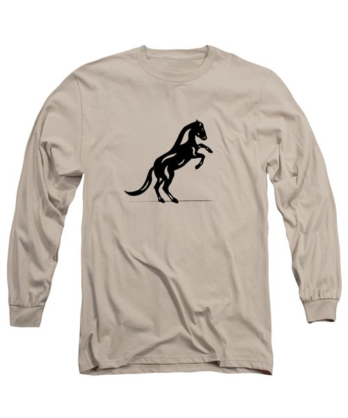 Long Sleeve T-Shirt featuring the painting Emma II - Abstract Horse by Manuel Sueess