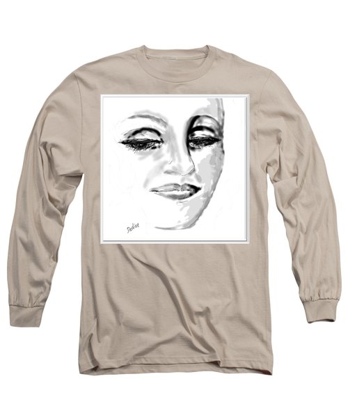 Long Sleeve T-Shirt featuring the drawing Empathy by Desline Vitto