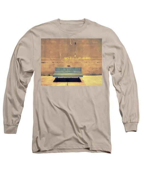 Empty Bench And Warning Long Sleeve T-Shirt