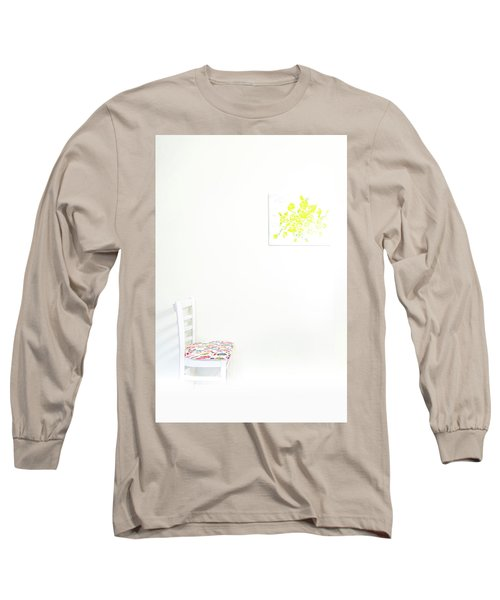 Empty Chair With Yellow Roses Long Sleeve T-Shirt