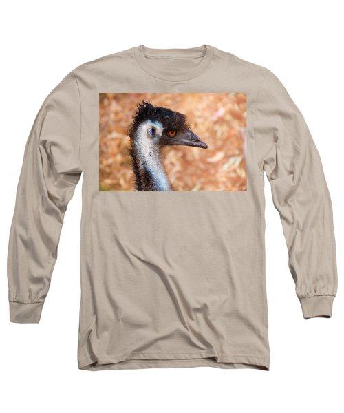 Emu Profile Long Sleeve T-Shirt by Mike  Dawson