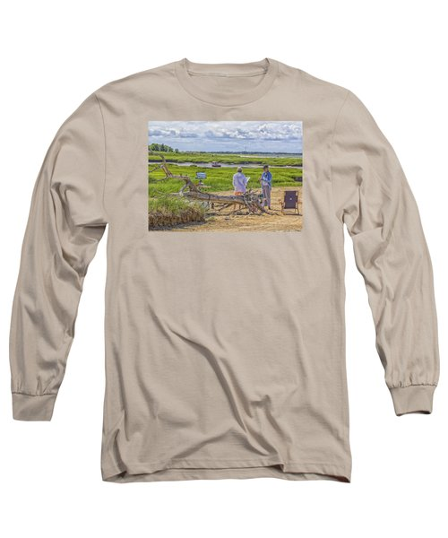Long Sleeve T-Shirt featuring the photograph En Plein Air  Cape Cod by Constantine Gregory