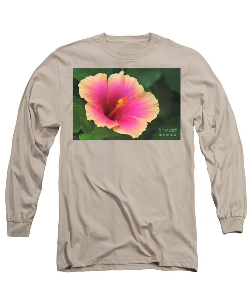 Encore Presentation - Simple Pleasure Hibiscus Long Sleeve T-Shirt