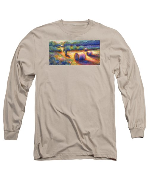 End Of A Well Spent Day Long Sleeve T-Shirt by Retta Stephenson