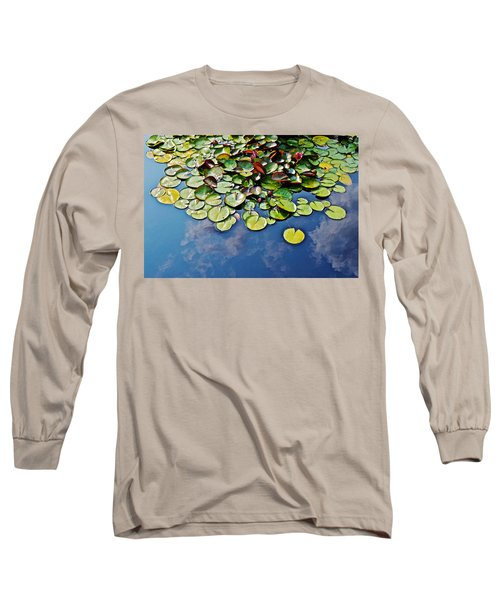 End Of July Water Lilies In The Clouds Long Sleeve T-Shirt