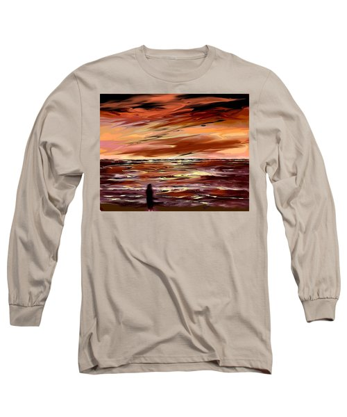 Long Sleeve T-Shirt featuring the digital art Endless by Desline Vitto