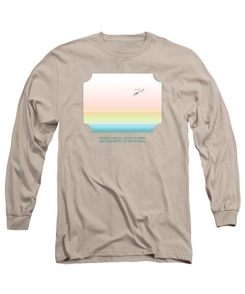 Endless Summer - Pink Long Sleeve T-Shirt by Gill Billington