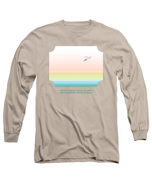 Endless Summer - Yellow Long Sleeve T-Shirt by Gill Billington