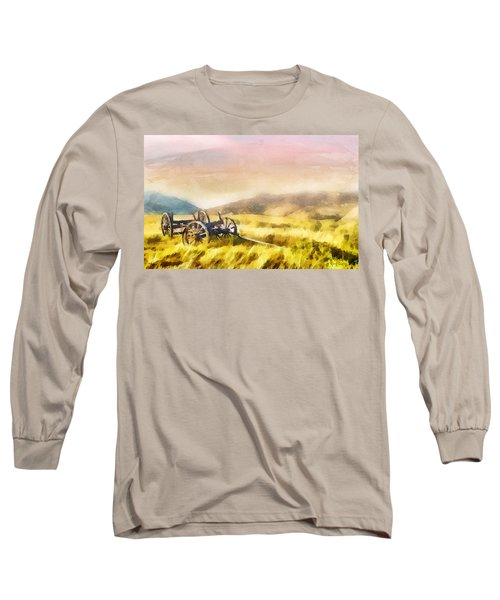 Long Sleeve T-Shirt featuring the painting Enduring Courage by Greg Collins
