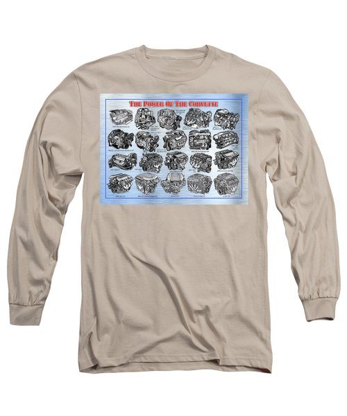 Eng-19_corvette-engines Long Sleeve T-Shirt