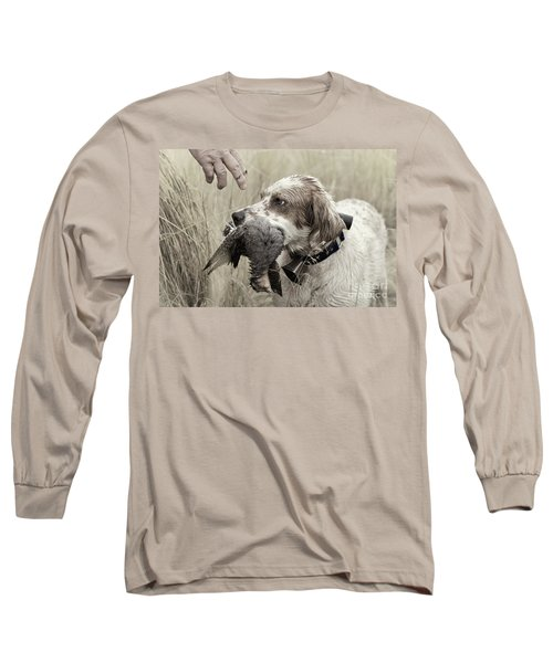 English Setter And Hungarian Partridge - D003092a Long Sleeve T-Shirt