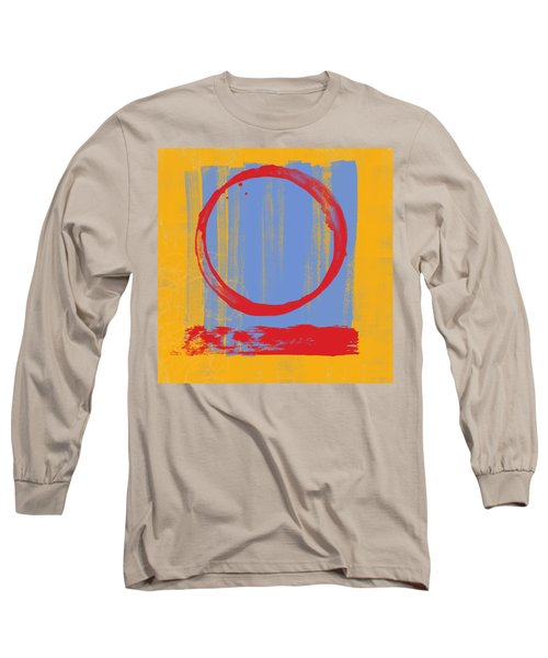 Long Sleeve T-Shirt featuring the painting Enso by Julie Niemela