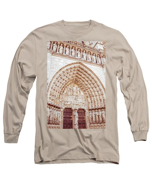 Entrance To Notre Dame Cathedral Long Sleeve T-Shirt