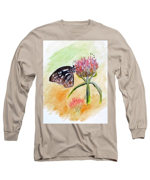 Erika's Butterfly Two Long Sleeve T-Shirt by Clyde J Kell