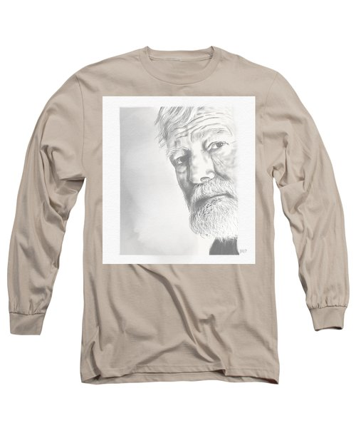 Long Sleeve T-Shirt featuring the digital art Ernest Hemingway by Antonio Romero