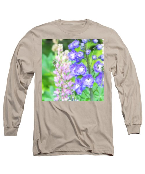Escape To The Garden Long Sleeve T-Shirt by Bonnie Bruno