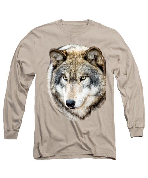 Long Sleeve T-Shirt featuring the photograph Essence Of Wolf by Gary Slawsky
