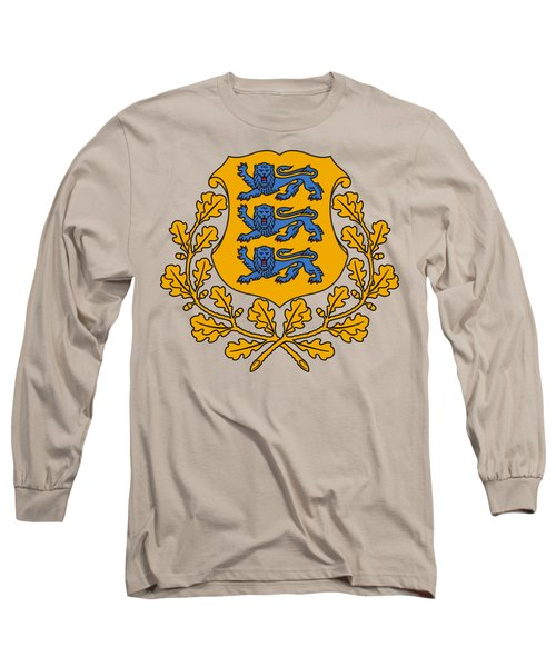 Estonia Coat Of Arms Long Sleeve T-Shirt by Movie Poster Prints