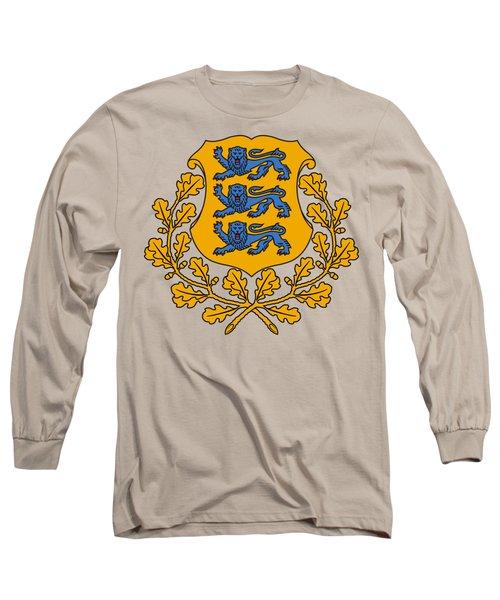 Estonia Coat Of Arms Long Sleeve T-Shirt