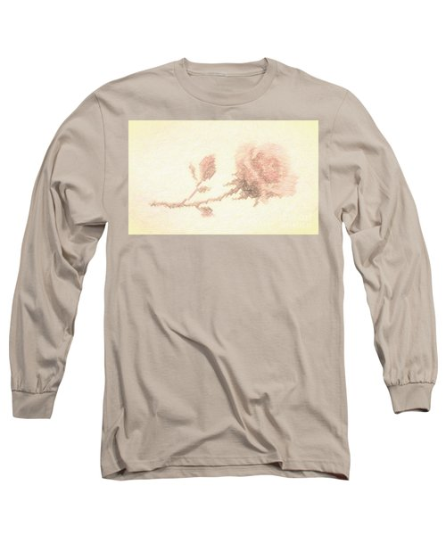 Long Sleeve T-Shirt featuring the photograph Etched Red Rose by Linda Phelps