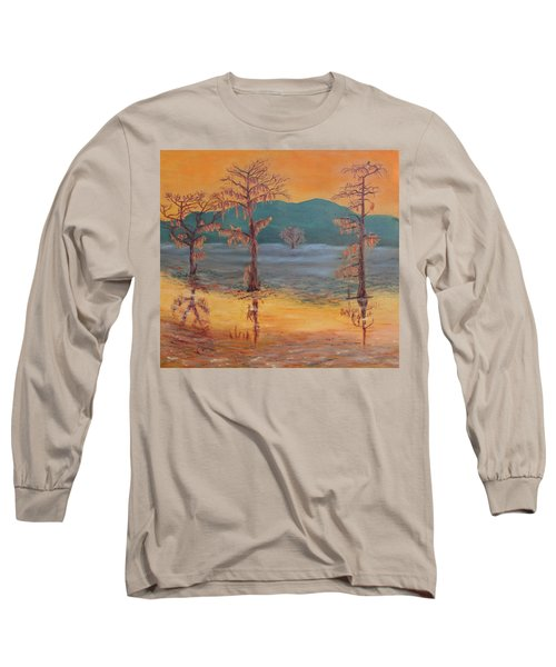 Evening At Caddo Lake Long Sleeve T-Shirt