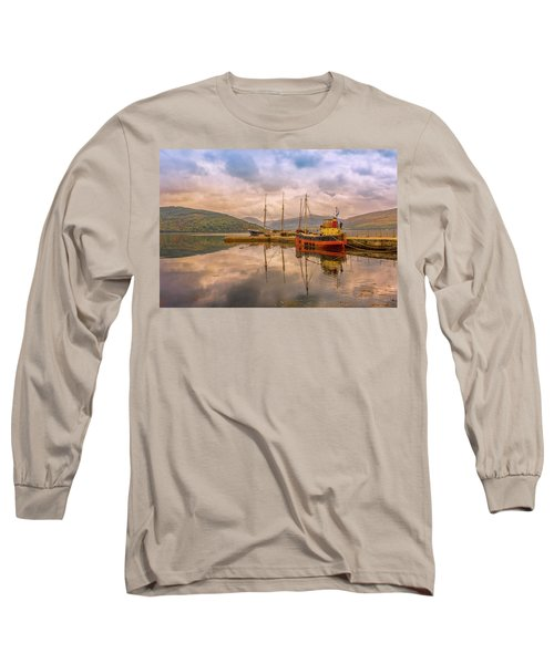 Evening At The Dock Long Sleeve T-Shirt by Roy McPeak