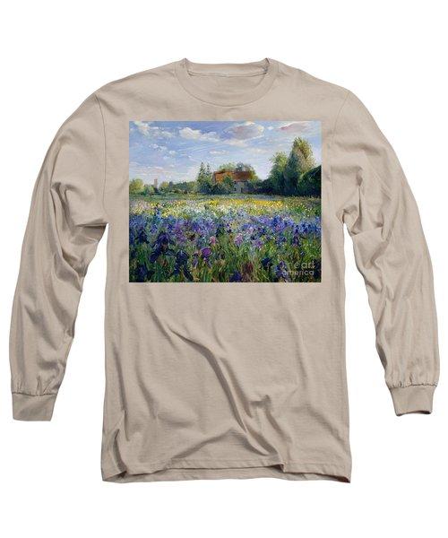 Evening At The Iris Field Long Sleeve T-Shirt