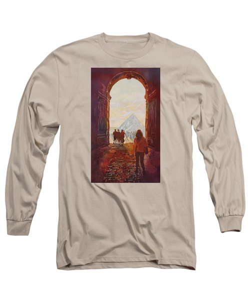 Evening At The Louvre Long Sleeve T-Shirt by Jenny Armitage