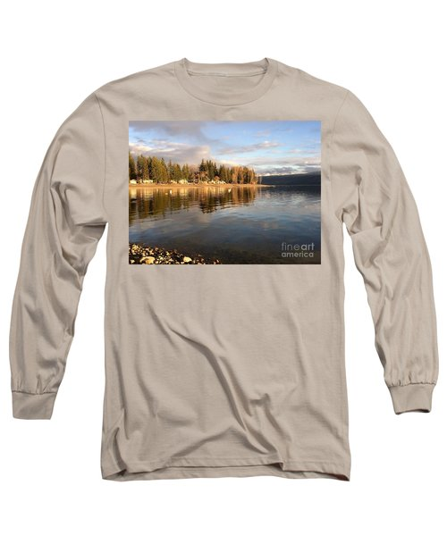 Evening By The Lake Long Sleeve T-Shirt by Victor K