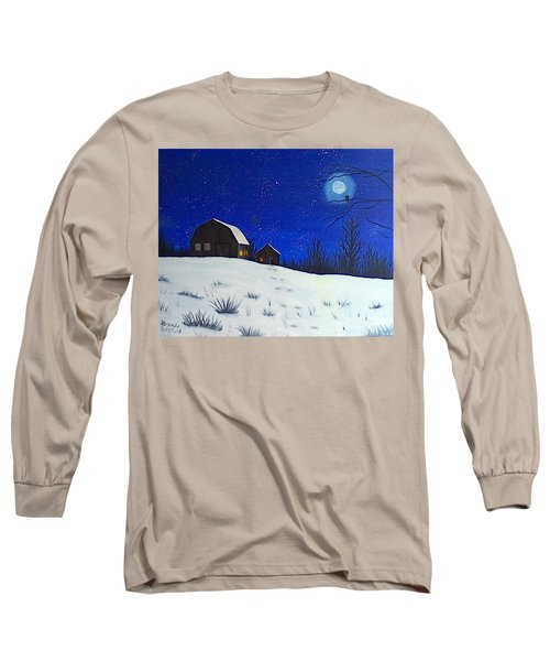 Evening Chores Long Sleeve T-Shirt by Brenda Bonfield