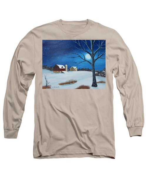 Long Sleeve T-Shirt featuring the painting Evening Chores by Jack G Brauer
