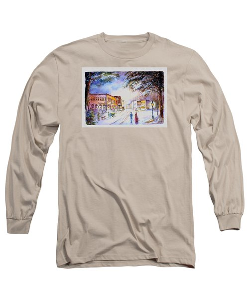 Evening In Dunnville Long Sleeve T-Shirt by Patricia Schneider Mitchell