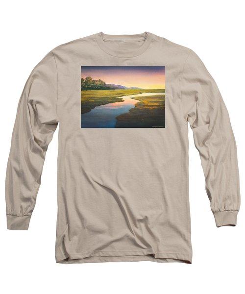 Evening Light Long Sleeve T-Shirt by Douglas Castleman