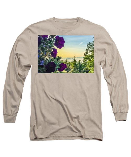 Long Sleeve T-Shirt featuring the photograph Evening Light On Orcas Island by William Wyckoff