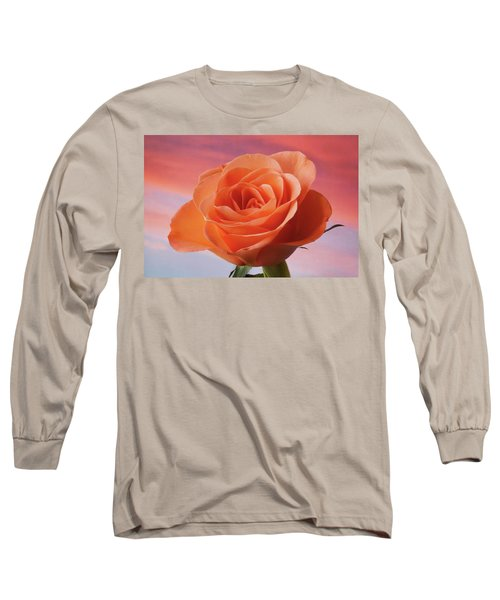 Long Sleeve T-Shirt featuring the photograph Evening Rose by Terence Davis